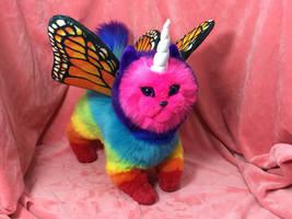 Rainbow Unicorn Butterfly Kitten 2.0 by judifur
