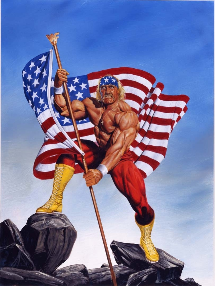 Hulk Hogan Real American  by leonrock84