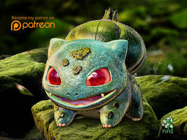 Realistic Pokemon: Bulbasaur by KaiKiato