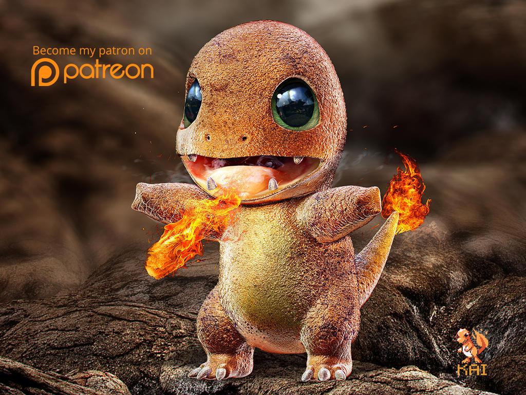Realistic Pokemon: Charmander by KaiKiato on DeviantArt