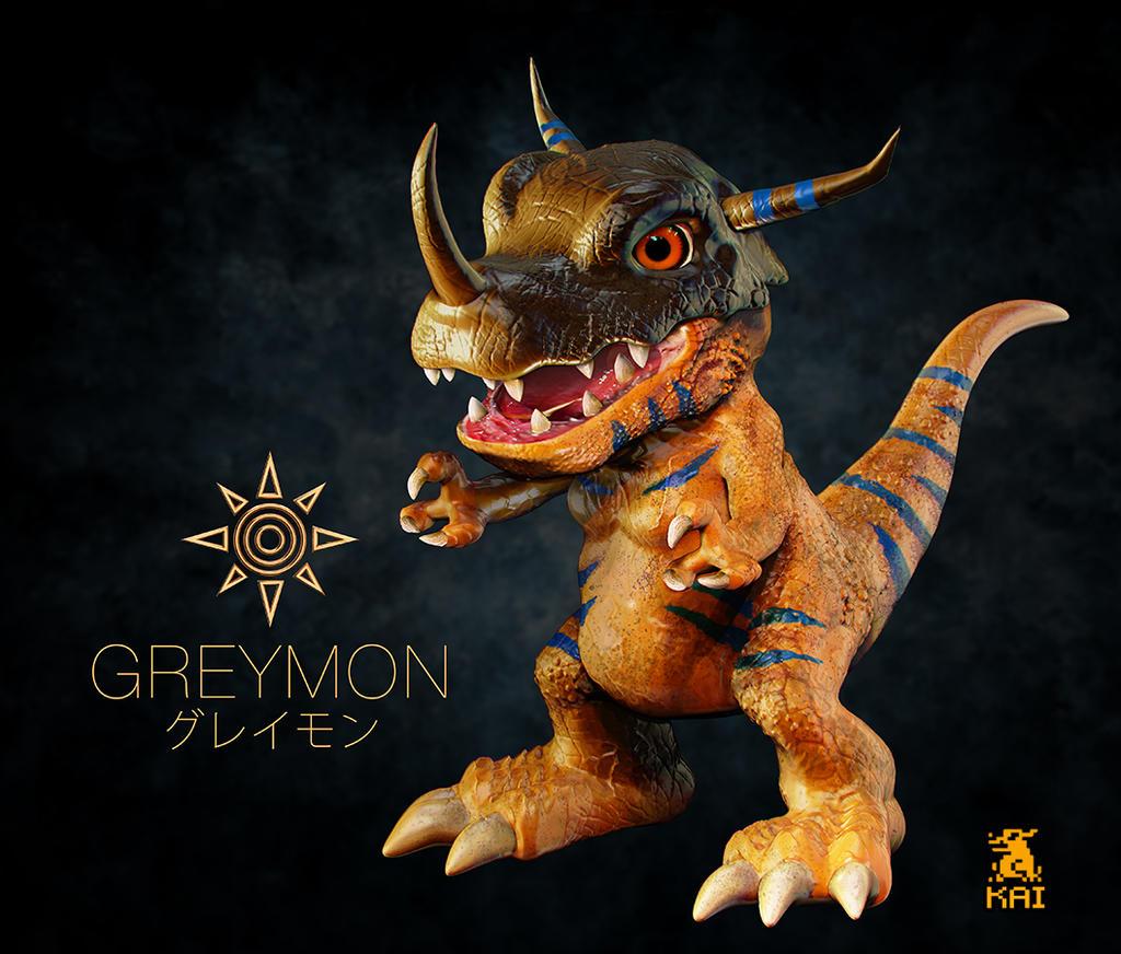 Realistic Digimon: Greymon