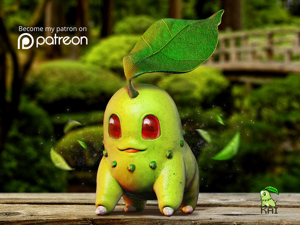 e714ea3b Realistic Pokemon: Chikorita by KaiKiato on DeviantArt