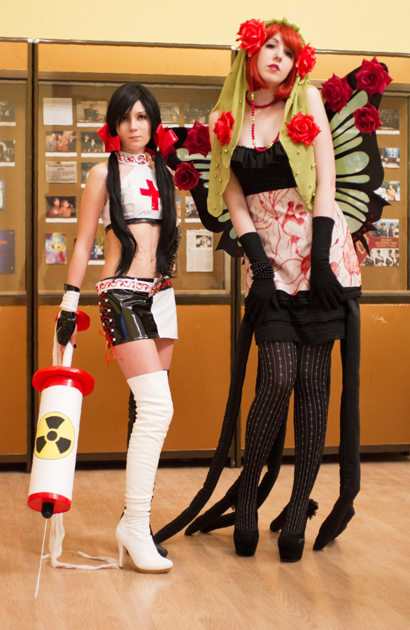 Madoka Magica - witches Gertrud and Elly by LuciuS-Akechi