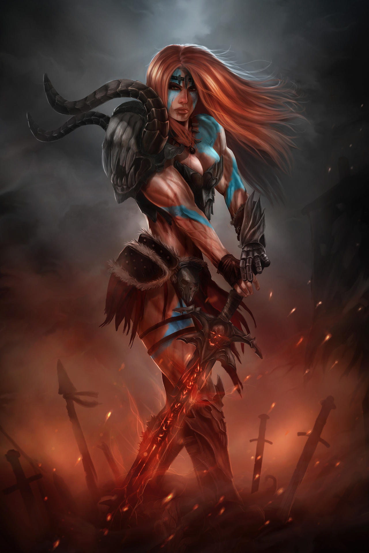 1000  images about diablo 3 on Pinterest | Barbarian woman, Google ...
