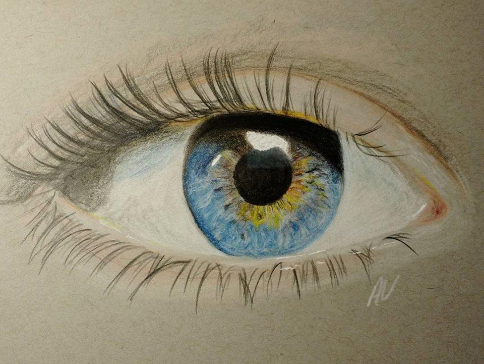 Blue Eye Colored Pencil Drawing by prancingdeer722 on ...
