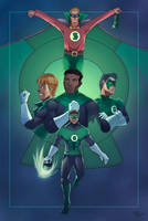 Tribute to the Green Lantern by seiyaogawara