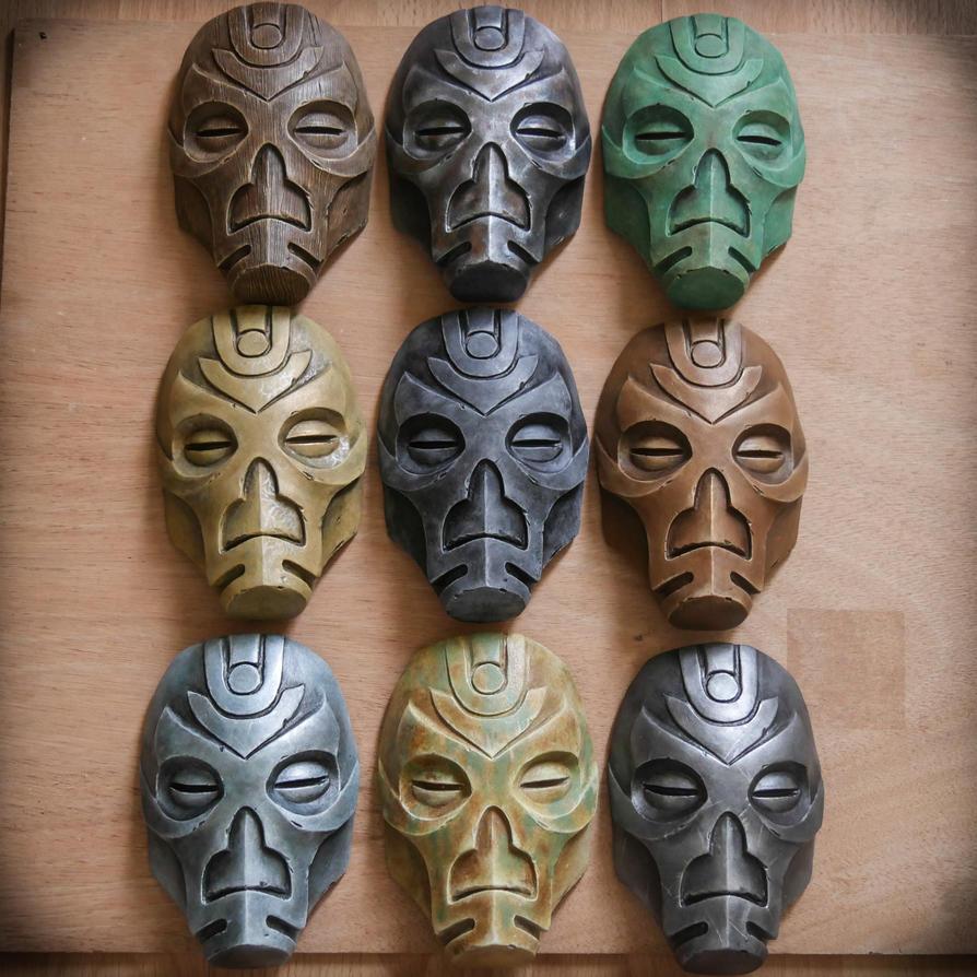 Dragon Priest mask (miniatures) - Skyrim by ArsynalProps
