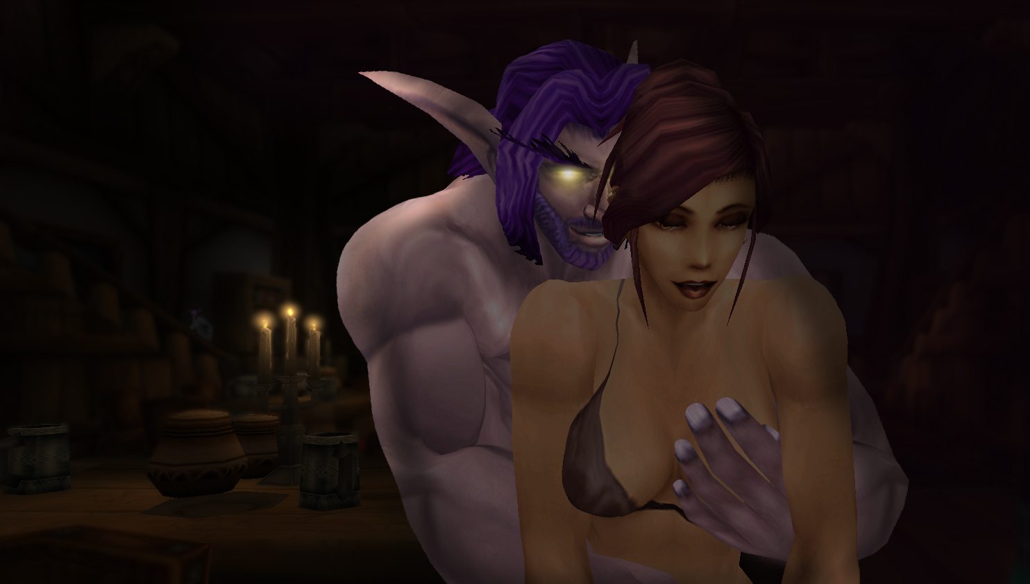 Night elf and human hentai sex video