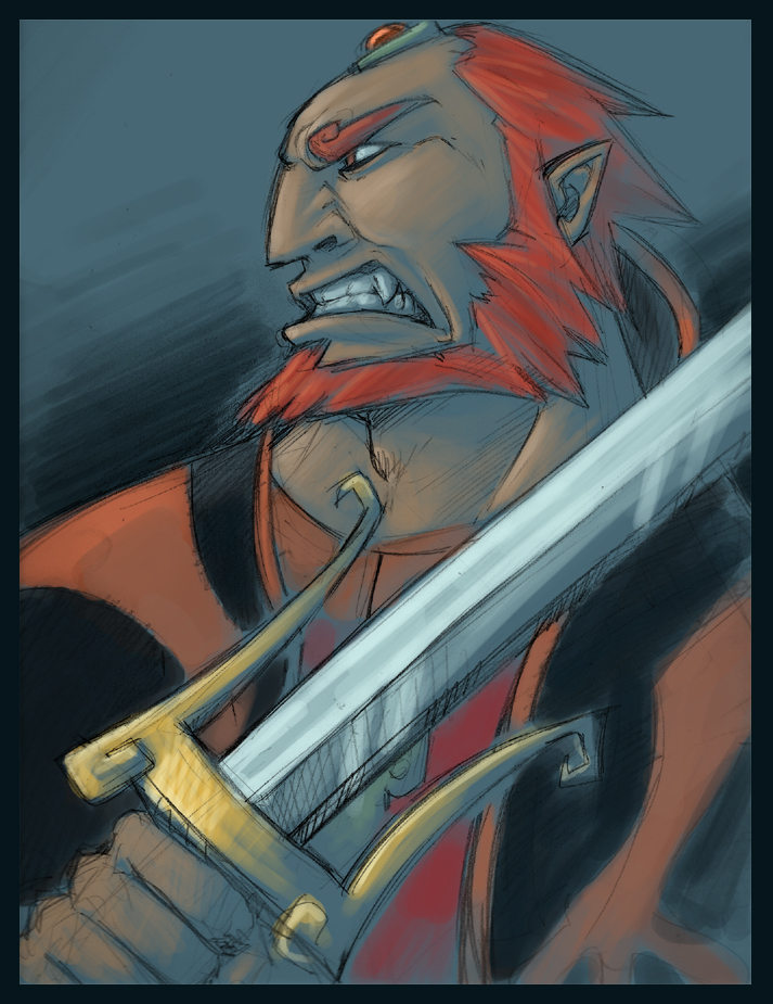 Ganondorf: Growl by Crispy-Gypsy
