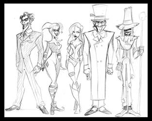 Batman Villain redesign by crumblygumbly