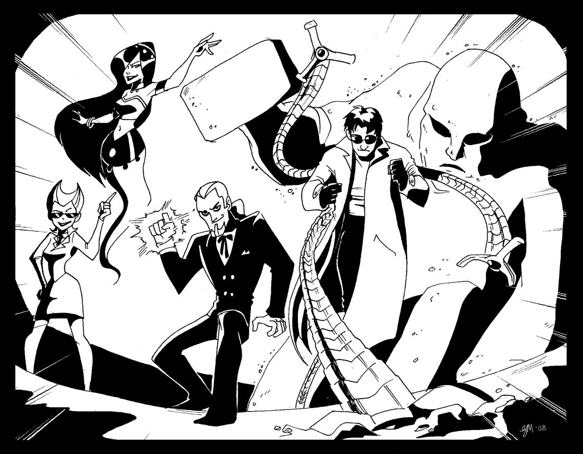 danny and spiderman villains by crispy gypsy on deviantart
