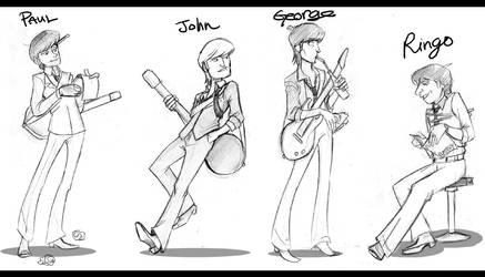 If I made a Beatles cartoon...