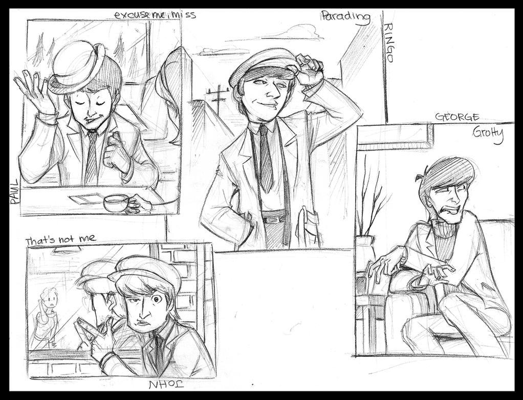 Beatles: Hard Day's Night by Crispy-Gypsy