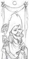 Clopin Bookmark Sketch