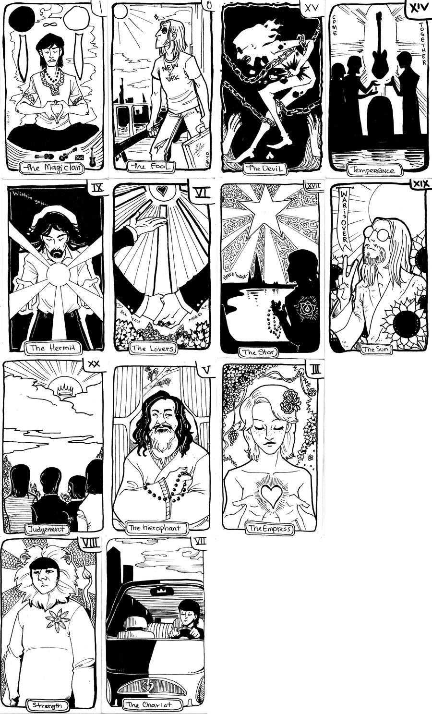 Beatles tarot cards