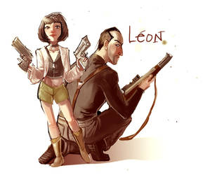 Leon et Mathilda by crumblygumbly