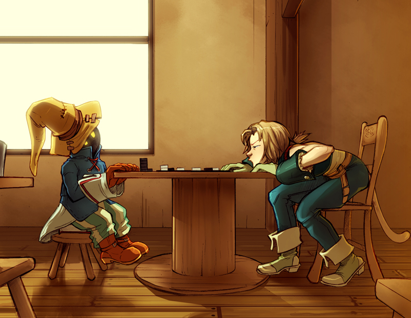 Vivi, Zidane: checkers by Crispy-Gypsy