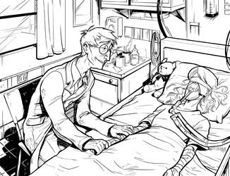 John and Mustang at the Hospital by crumblygumbly