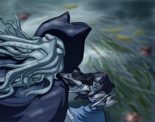 Davy Jones, Calypso: Falling by Crispy-Gypsy
