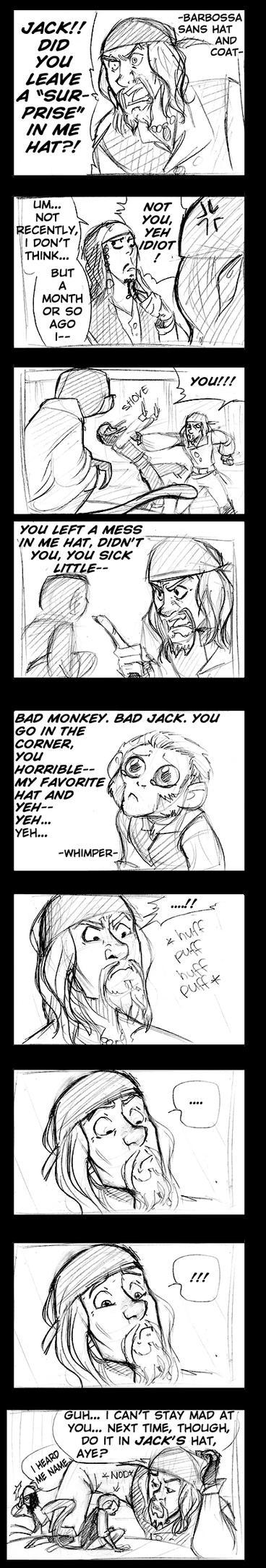 Barbossa: Monkey love by Crispy-Gypsy