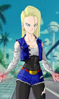 Super Androide 18 - Super Android 18 by CFFC2010