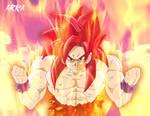 Goku Super Saiyan God - Super Saiyajin Dios