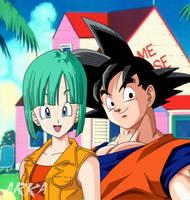 Goku x Bulma by CFFC2010