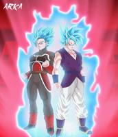 Tyke n Kal Super Saiyan Blue + Kaioken by CFFC2010