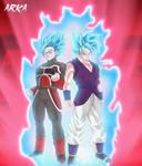 Tyke n Kal Super Saiyan Blue + Kaioken
