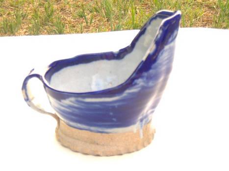 White and cobalt glaze