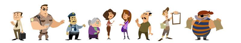 personajes varios by timal