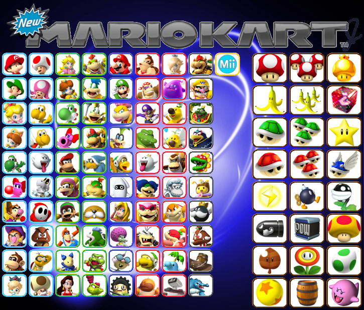New Mario Kart - Character + Item Roster by Just-Call-Me-J ...