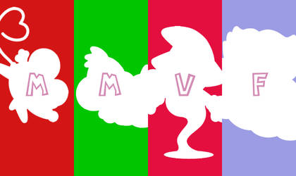 Team MMVF silhouettes by Just-Call-Me-J