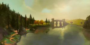 Across Middle-Earth - The Last Bridge by ralphdamiani
