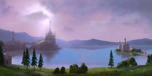 Across Middle-Earth - Lake Evendim by ralphdamiani