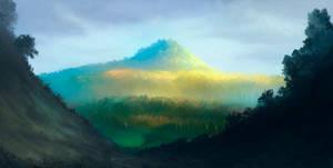 Across Middle-Earth - Lorien by ralphdamiani