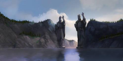 Across Middle-Earth - The Argonath