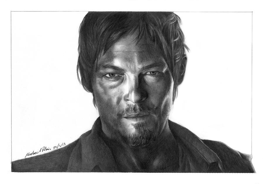 Daryl Dixon - Walking Dead by MikeRobinsArt