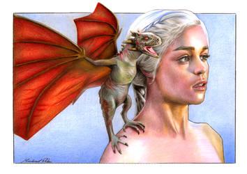 Daenerys Targaryen by MikeRobinsArt