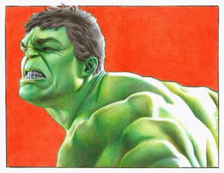 Hulk by MikeRobinsArt