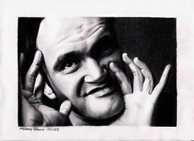Quentin Tarantino by MikeRobinsArt