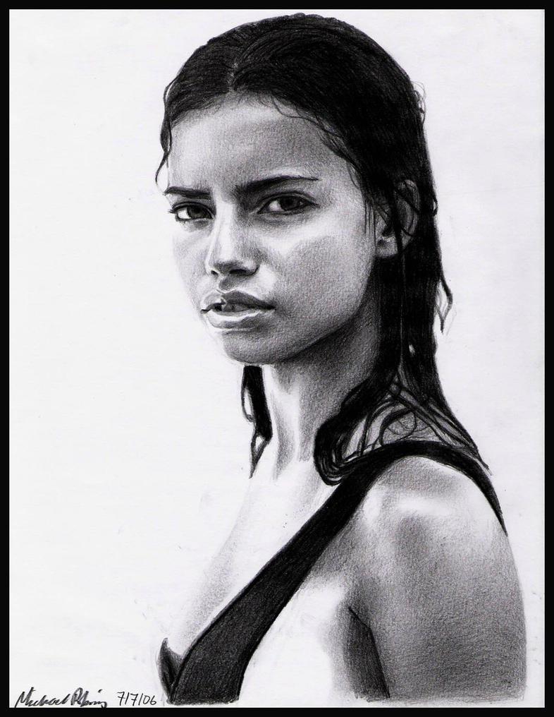 Adriana Lima by MikeRobinsArt