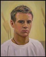 Self Portrait in Oil by MikeRobinsArt