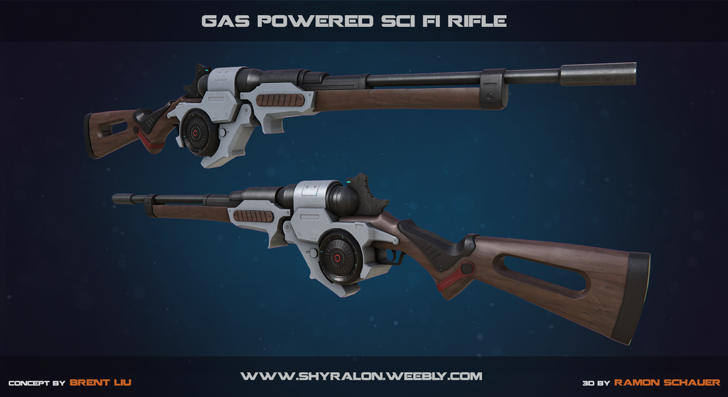 Gas Powered Sci Fi Rifle by Shyralon