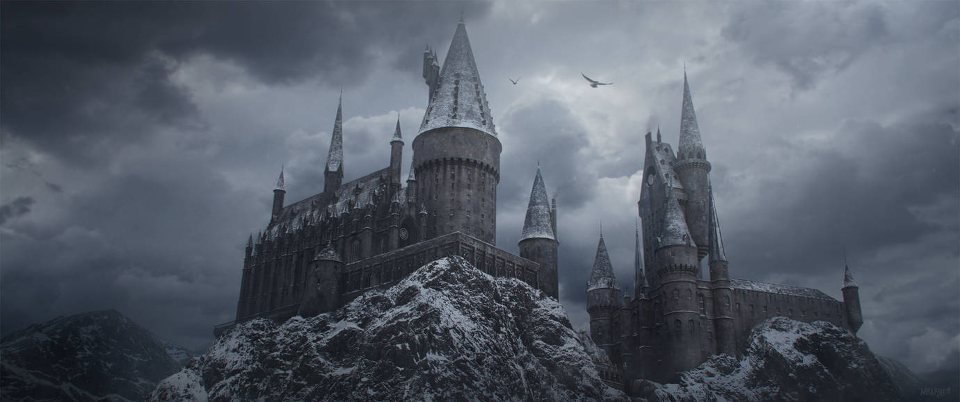 Hogwarts in the Snow by menyhei