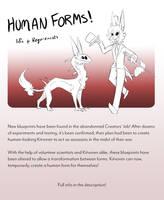 Kitvoren Human Forms by MinxyBaskerville