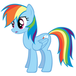 Rainbow Dash Huh? Vector