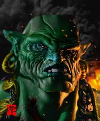 Korr Ga'hal, the orc. by BPuig