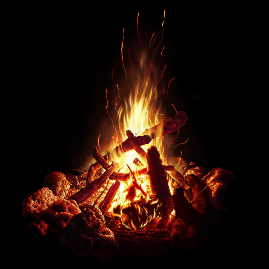 campfire study by bpuig digital art drawings paintings other 2012 2015    Campfire Painting