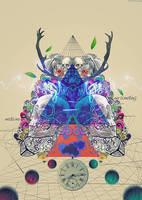 Psychedelic Mix Media by jizchuckZ